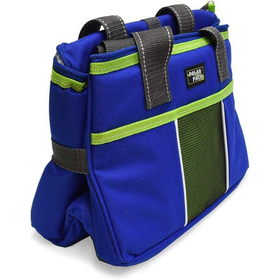 Polar Pack 18 Can Insulated Double Handle Collapsible Cooler-Royal and Lime-Daily Steals