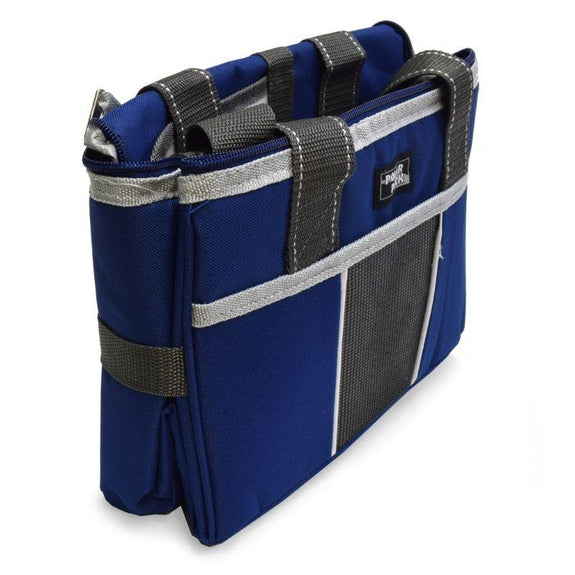 Polar Pack 18 Can Insulated Double Handle Collapsible Cooler-Navy and Charcoal-Daily Steals