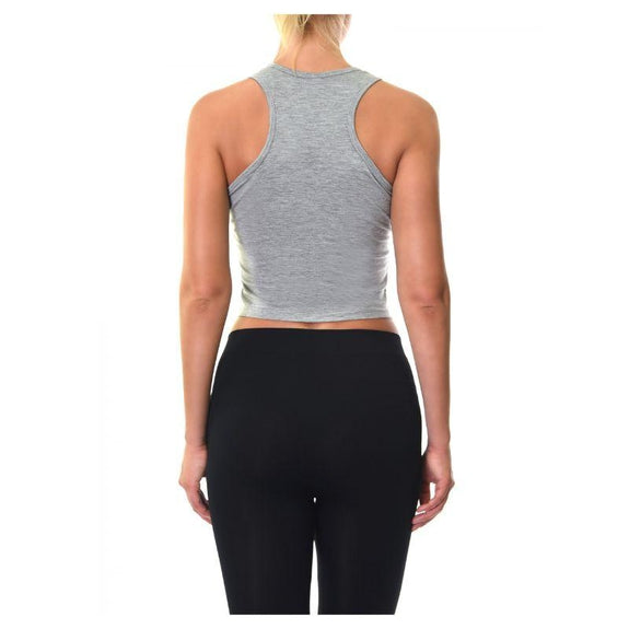 Sofra Ladies Rayon Racerback Crop Tank Top-Daily Steals