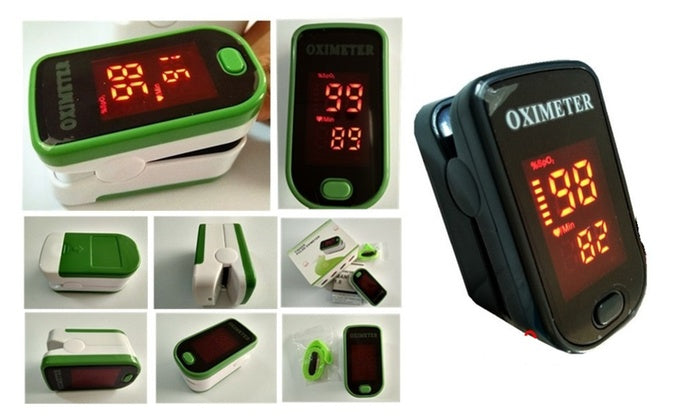 Finger Pulse Oximeter with LED Display-Green-Daily Steals