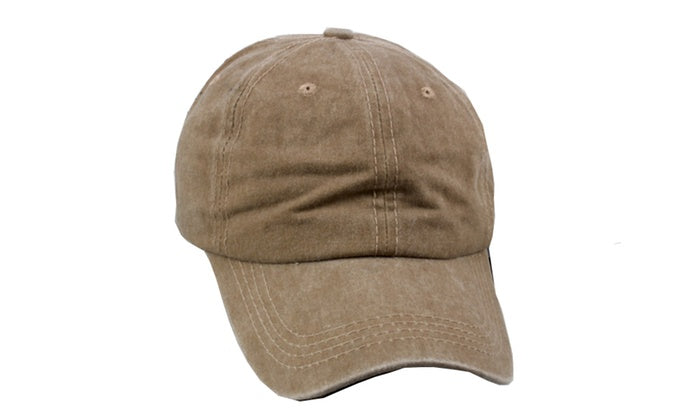 Baseball Adjustable Cap - Unisex-Khaki-Daily Steals