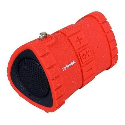 Toshiba Sonic Dive 2 Rugged Floating Portable Wireless Bluetooth Speaker-Red-Daily Steals