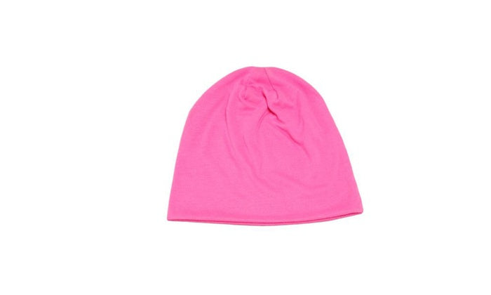 Unisex Plain Long Slouch Beanie - 4 Color Options-Pink-Daily Steals