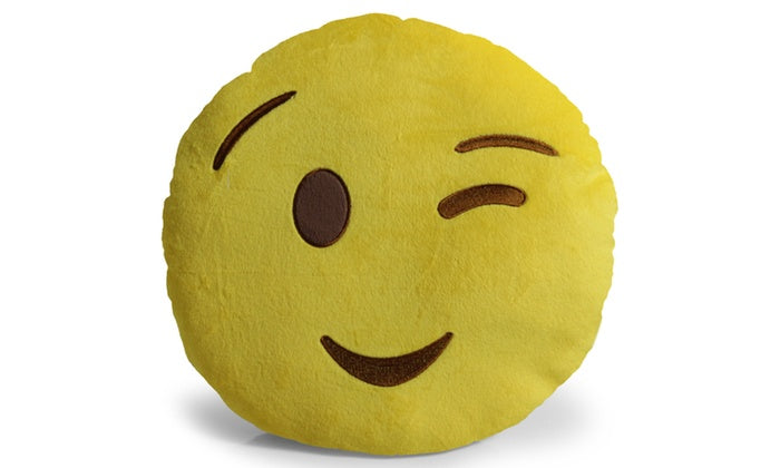 "Large 13"" Soft Plush Emoji Throw Pillows-Wink-Daily Steals"