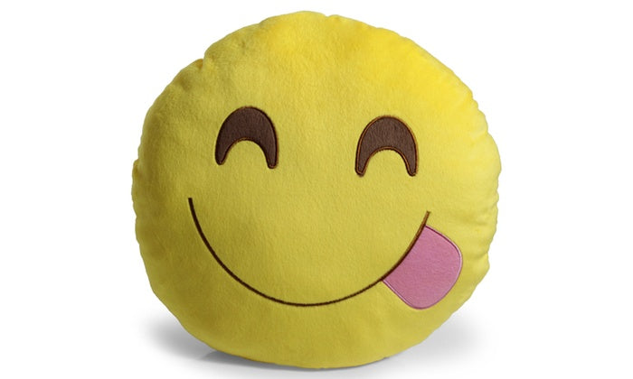 "Large 13"" Soft Plush Emoji Throw Pillows-Yum-Daily Steals"