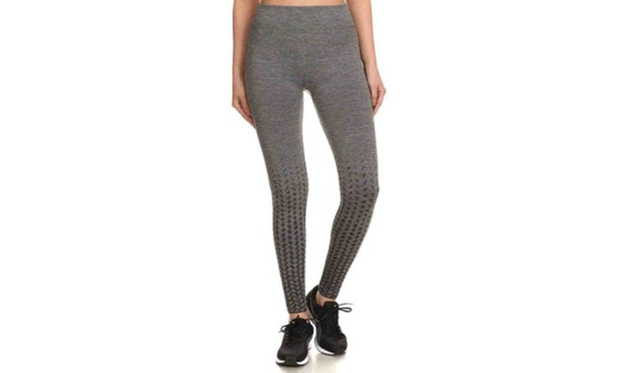 Kvinnors aktiva fleece fodrade prestanda Leggings-Grå / svart-S / M-Daily Steals