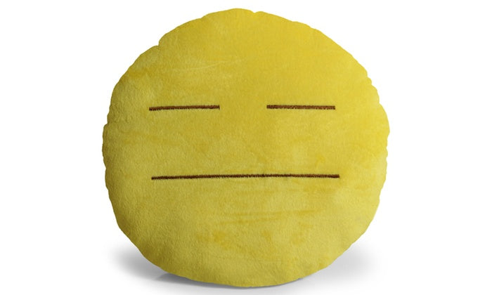 "Large 13"" Soft Plush Emoji Throw Pillows-Expressionless-Daily Steals"