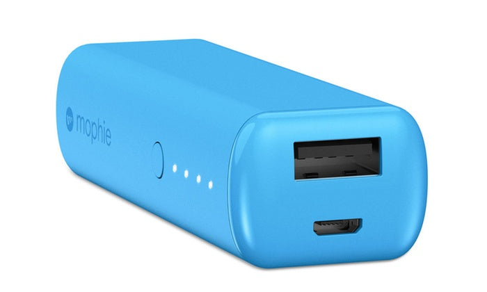 mophie Power Reserve 2.6K (2,600 mAh) Portable Charger with LED Status Indicator-Blue-Daily Steals