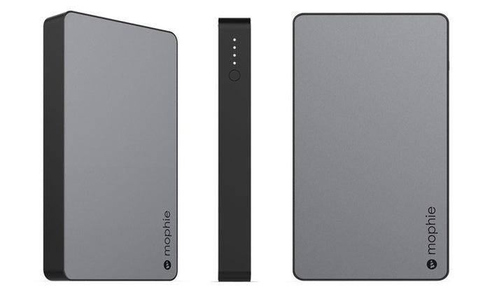 [1 o 2 paquetes] Mophie Aluminum Powerstation 6,200 mAh - Space Gray-1 paquete-Daily Steals