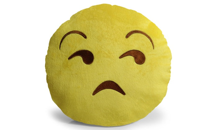 "Large 13"" Soft Plush Emoji Throw Pillows-Unamused-Daily Steals"