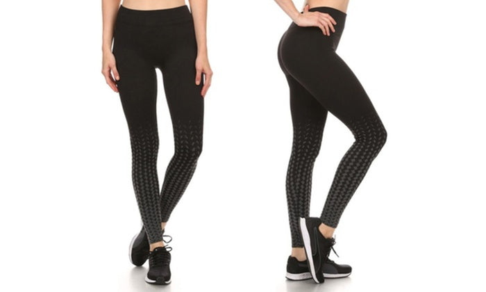 Kvinnors aktiva fleece fodrade prestanda Leggings-Svart / Grå-S / M-Daily Steals