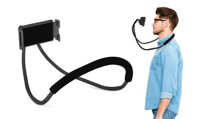 Aduro Lounger Universal Adjustable Neck Mount Phone Holder-Gray-Daily Steals