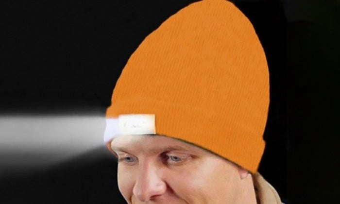 LED Beanie with Built-In Rechargeable USB-Orange-Daily Steals