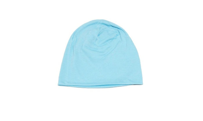 Unisex Plain Long Slouch Beanie - 4 Color Options-Blue-Daily Steals