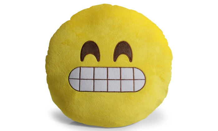 "Large 13"" Soft Plush Emoji Throw Pillows-Grin-Daily Steals"