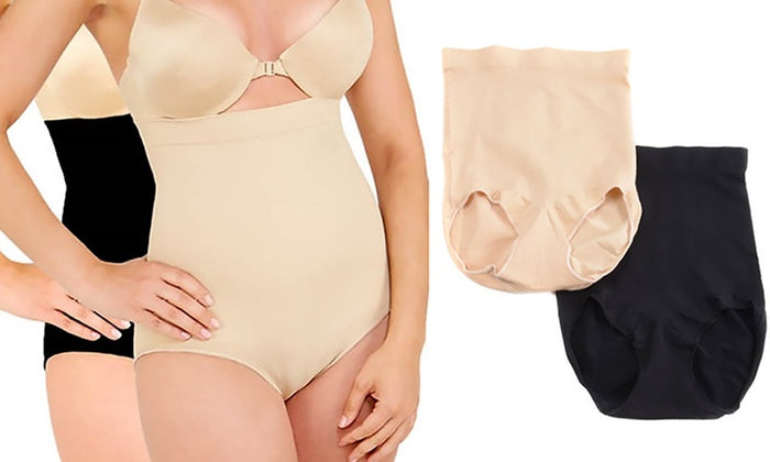 [2-pack] Black and Nude Slimming High Rise Trosor-S-Daily Steals