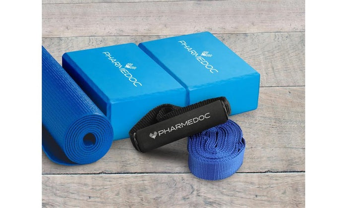 Pharmedoc Yoga Bundle With Mat, Blocks, and Strap-Daily Steals
