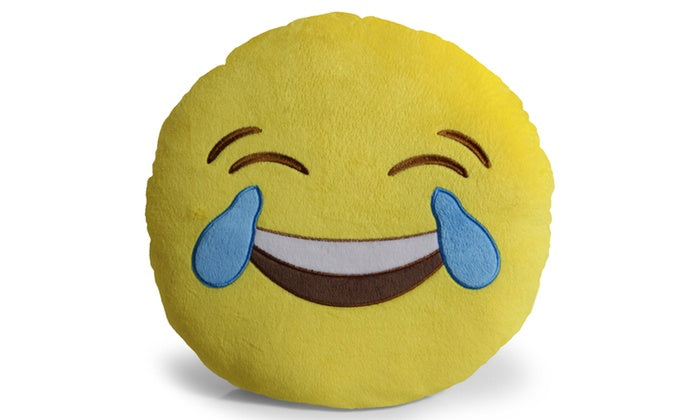 "Large 13"" Soft Plush Emoji Throw Pillows-Joy-Daily Steals"