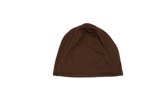 Unisex Plain Long Slouch Beanie - 4 Color Options-Brown-Daily Steals