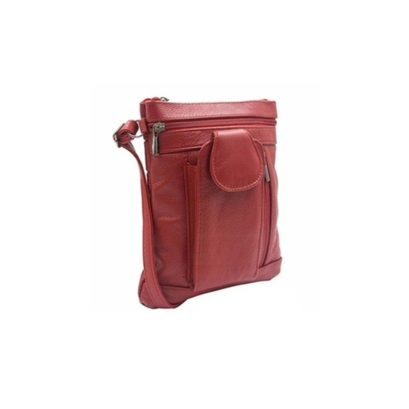 """On-the-Go"" Soft Leather Crossbody Bag-Daily Steals"