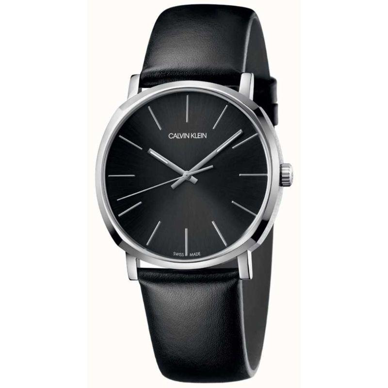 Calvin Klein Men's Posh 40mm Leather Watch-Black Dial-40mm-Daily Steals