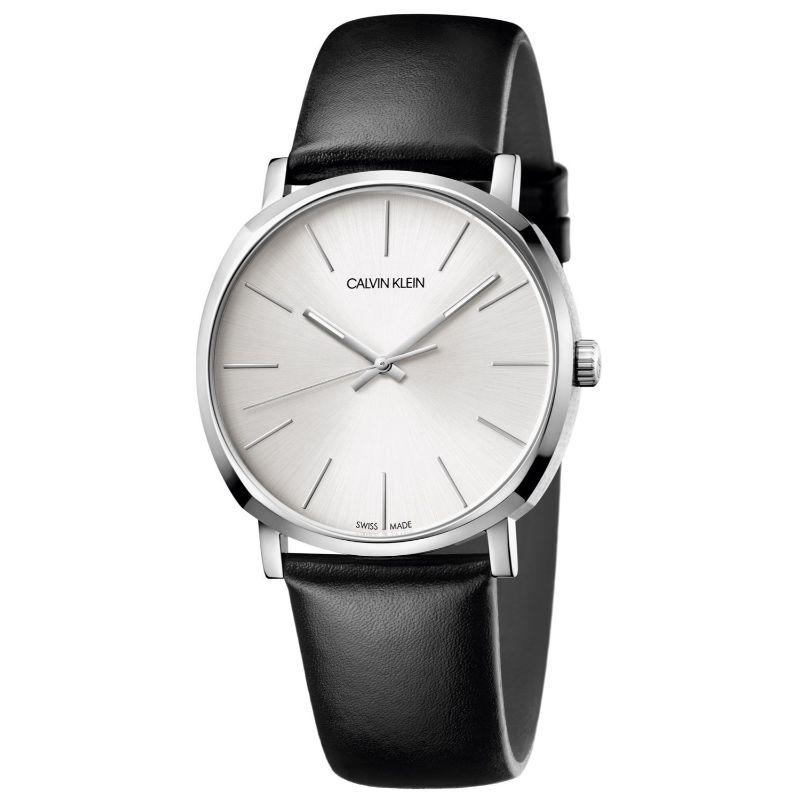 Calvin Klein Men's Posh 40mm Leather Watch-Silver Dial-40mm-Daily Steals