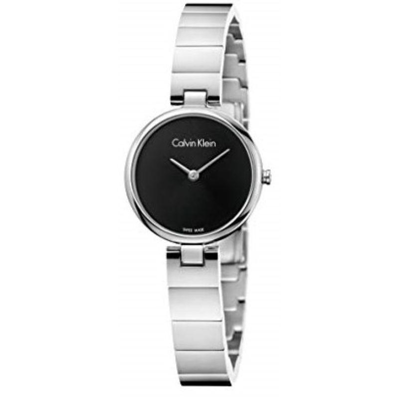 Calvin Klein Women's Authentic 28mm Stainless Steel Watch-Black Dial-Daily Steals
