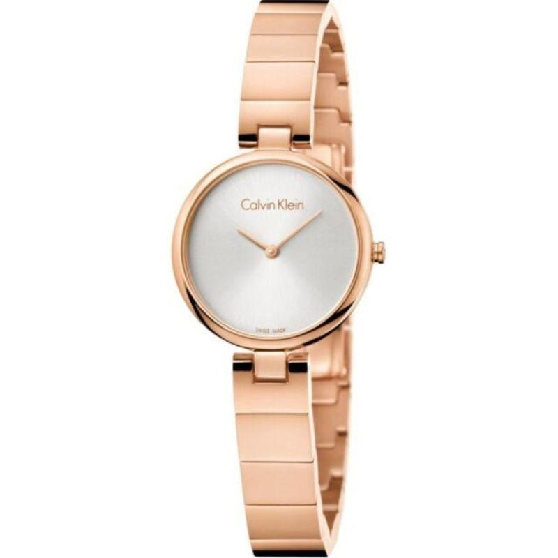 Calvin Klein Women's Authentic 28mm Stainless Steel Watch-Silver Dial/Rose Gold Case-Daily Steals