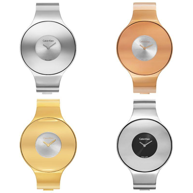 Calvin Klein Women's Seamless Oversized Bezel Quartz Watch-Daily Steals
