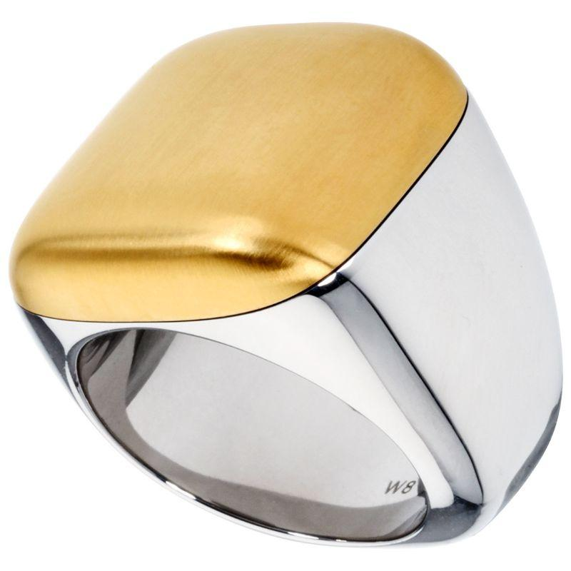Calvin Klein Women's Silver and Gold Placid Ring-
