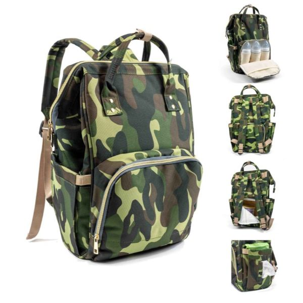 Diaper Bag Backpack- 9 Colors-Camo-Daily Steals
