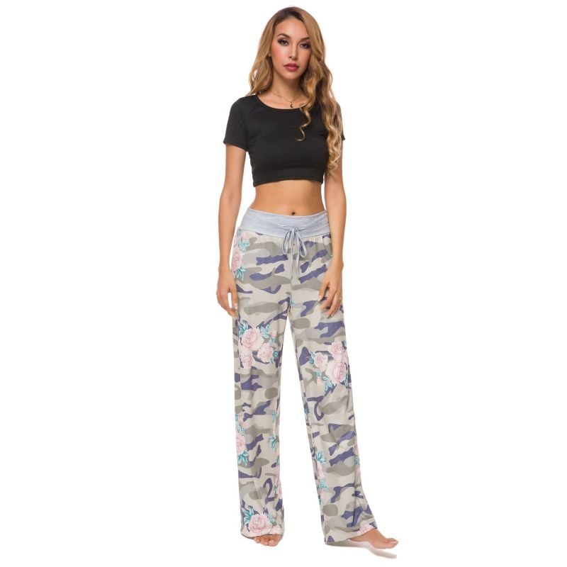 Camouflage and Floral/Camouflage Lounge Pants-Beige Floral-Small-Daily Steals