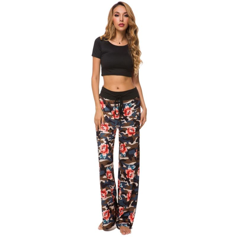 Camouflage and Floral/Camouflage Lounge Pants-Black Floral-Small-Daily Steals