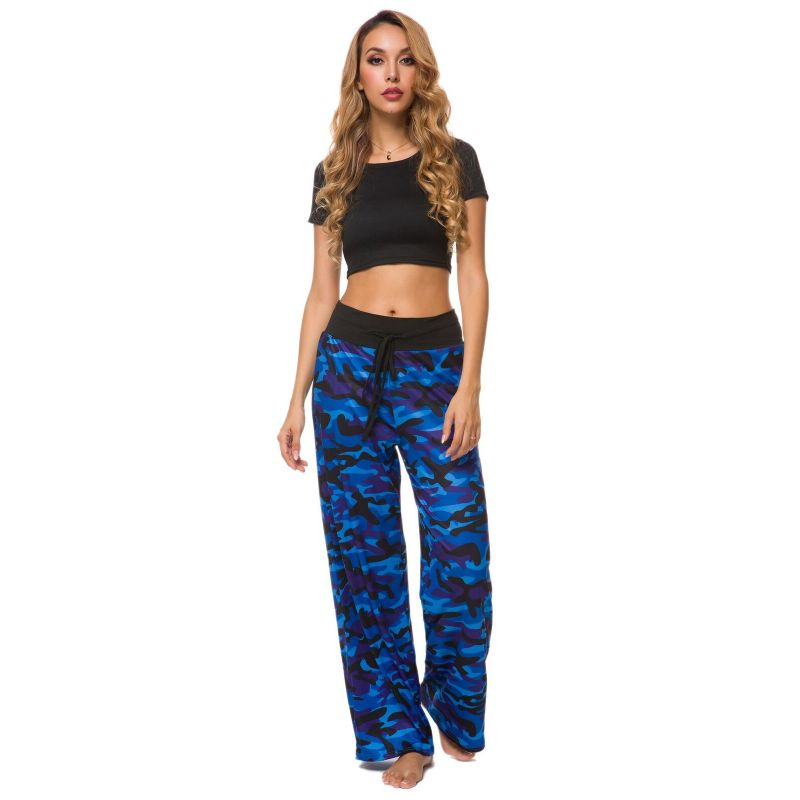 Camouflage and Floral/Camouflage Lounge Pants-Blue-Small-Daily Steals