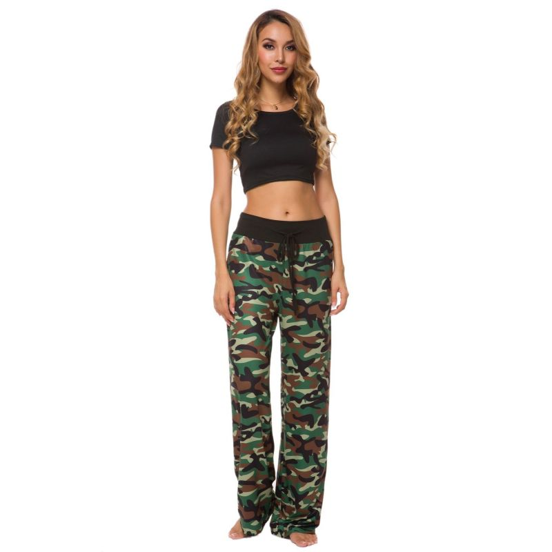 Camouflage and Floral/Camouflage Lounge Pants-Green-Small-Daily Steals