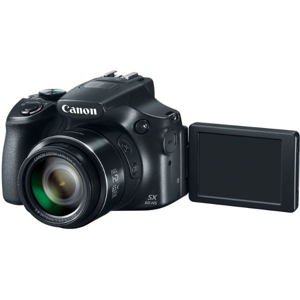 Canon Powershot SX60 16.1MP Digital Camera 65x Optical Zoom Lens 3-inch LCD Tilt Screen (Black)-Daily Steals