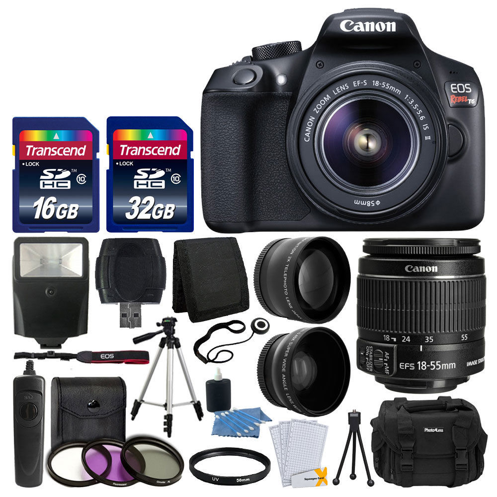update alt-text with template Daily Steals-Canon EOS Rebel T6 DSLR Camera + 18-55mm Lens + 48GB + 3 Lens Top Value Bundle-Cameras-