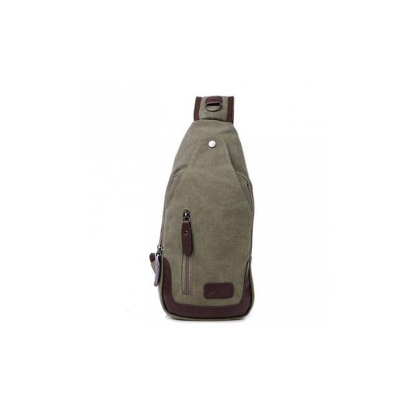 Canvas Shoulder Sling Bag-Army Green-Daily Steals