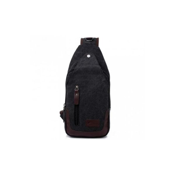 Canvas Shoulder Sling Bag-Black-Daily Steals