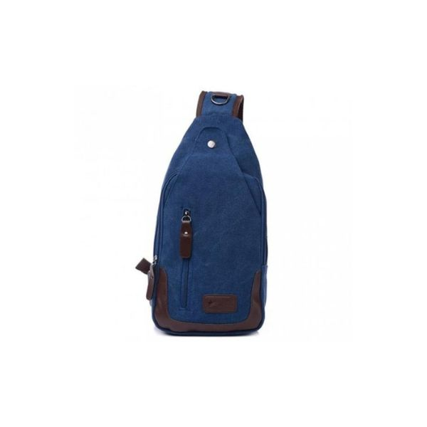 Canvas Shoulder Sling Bag-Blue-Daily Steals
