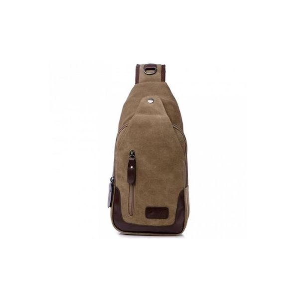 Canvas Shoulder Sling Bag-Coffee-Daily Steals