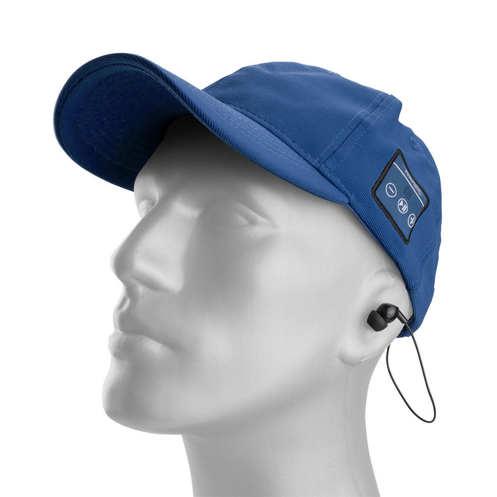 Daily Steals-Bluetooth GrooveCap with Wireless Earbuds - Listen to Music and Answer Calls-Headphones-Blue-