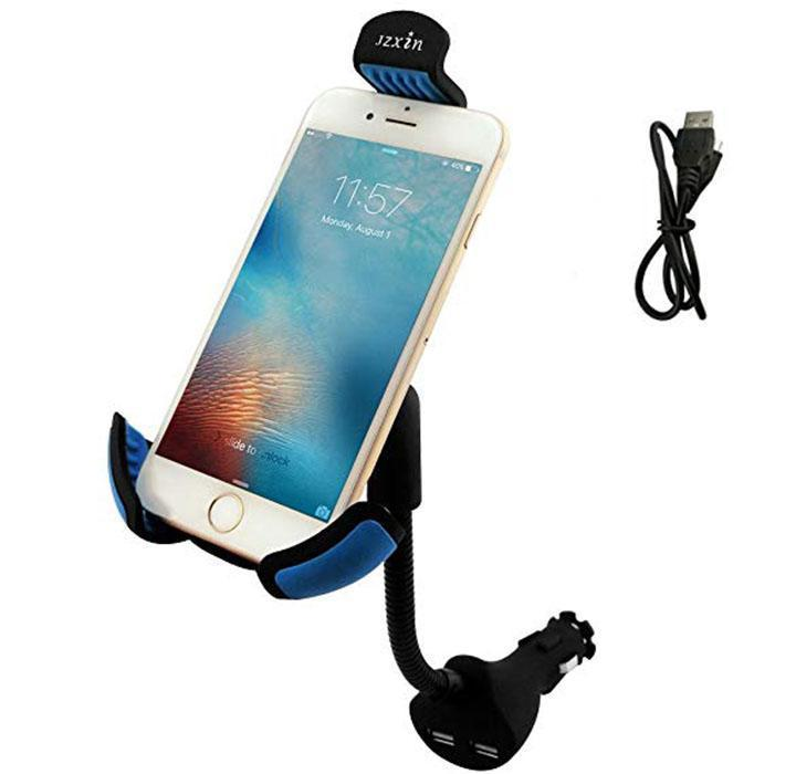 Universal In-Car Smartphone Mount with Dual USB Charger-Daily Steals