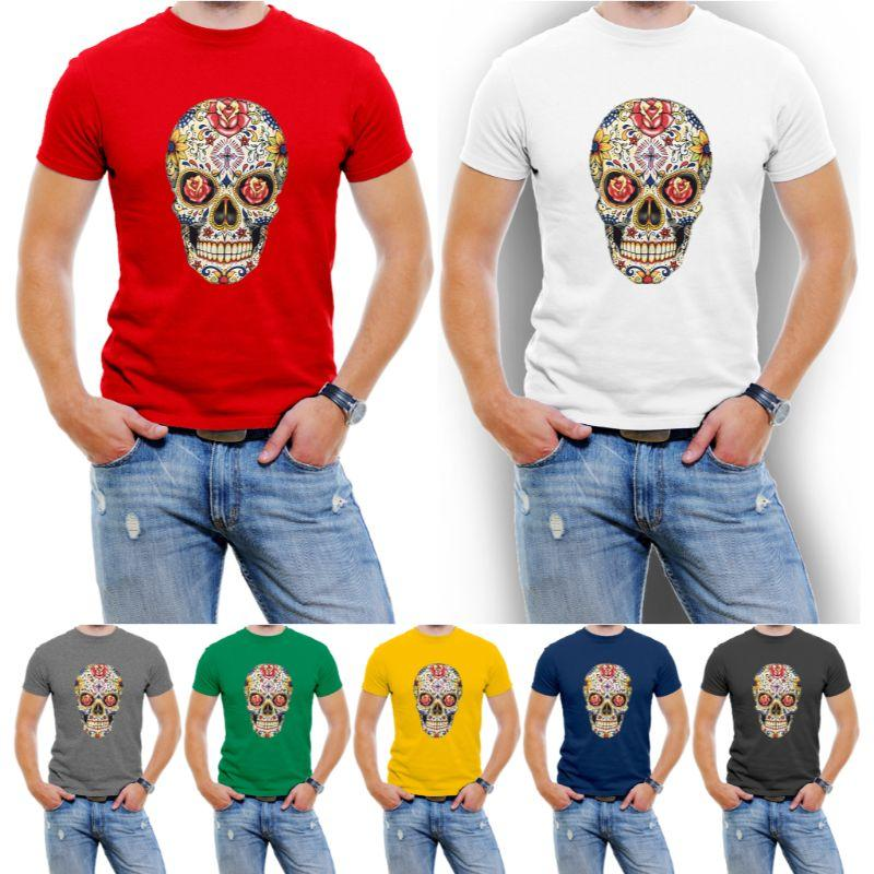 Carnival Skull Graphic T-Shirt Hommes-Daily Steals