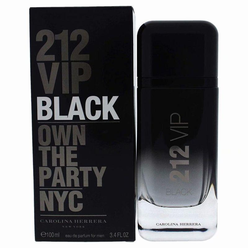 Carolina Herrera 212 VIP Black for Men Eau de Parfum 3.4 Ounces-
