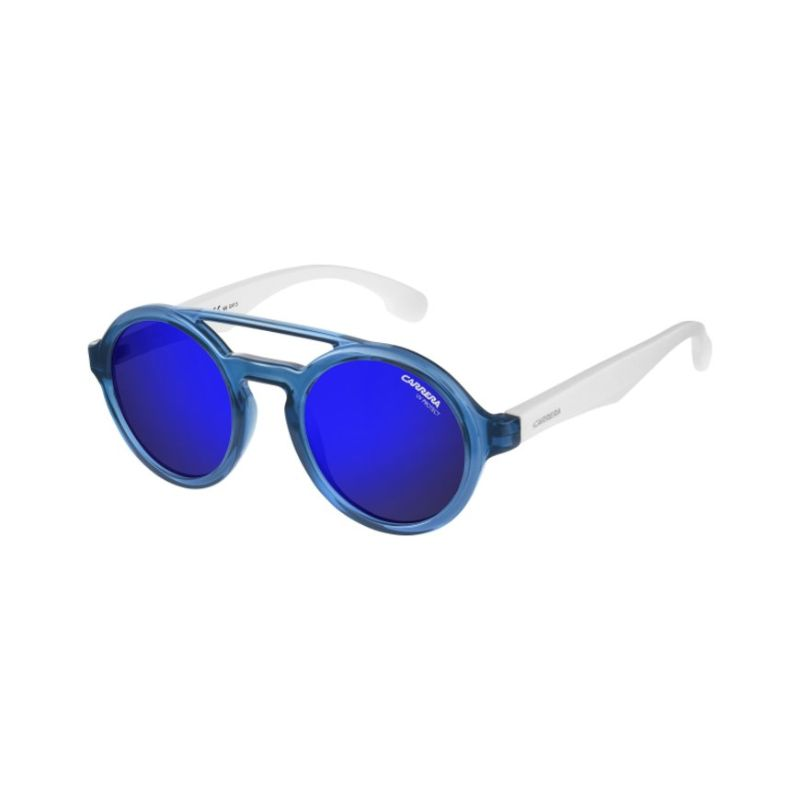 Carrera Carrerino 19 0Wwk Men's Sunglasses Whiteblue Blue Sky Miror 44mm-Daily Steals
