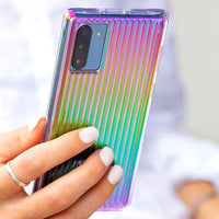 Case Mate Tough Groove Case for Samsung Galaxy Note 10+, Iridescent Rainbow, CM039458