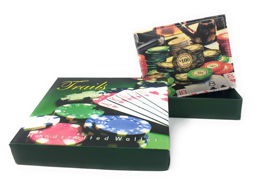 Bifold Wallets With Printed Designs - Comes in Gift Box-CASINO CHIPS-Daily Steals