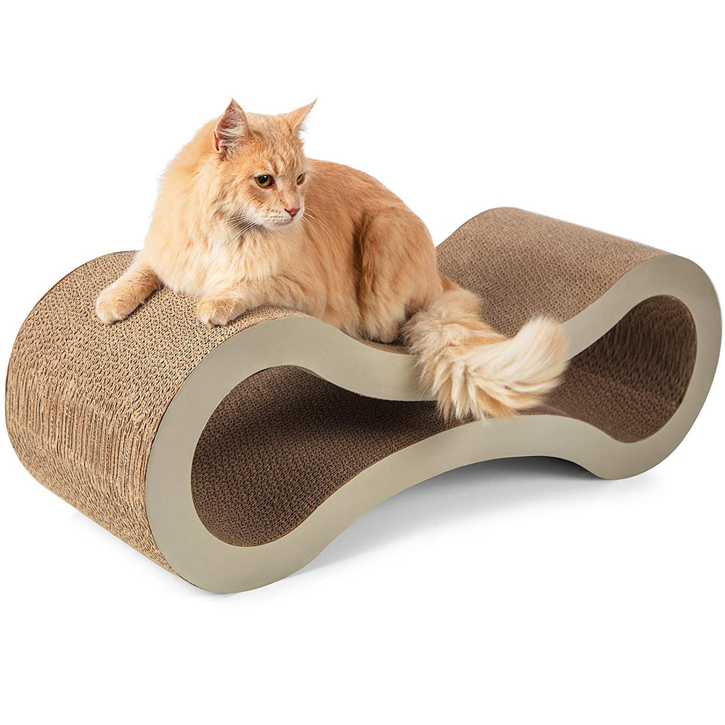 Cat Scratcher Post Lounger-Beige-Daily Steals
