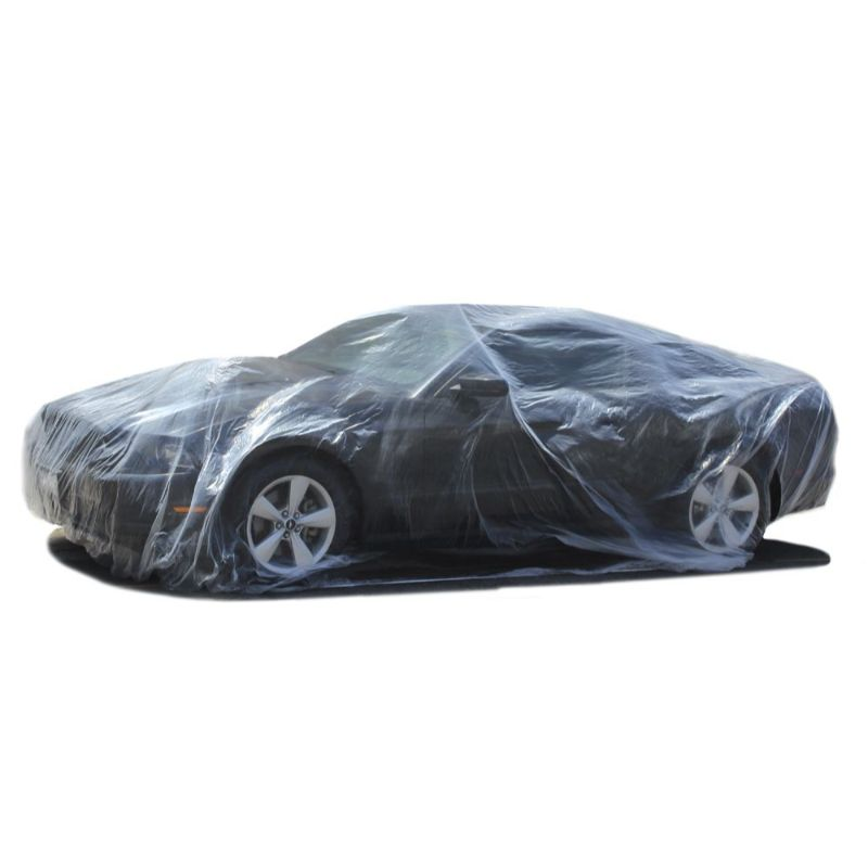 Universal Clear Plastic Disposable Car Cover
